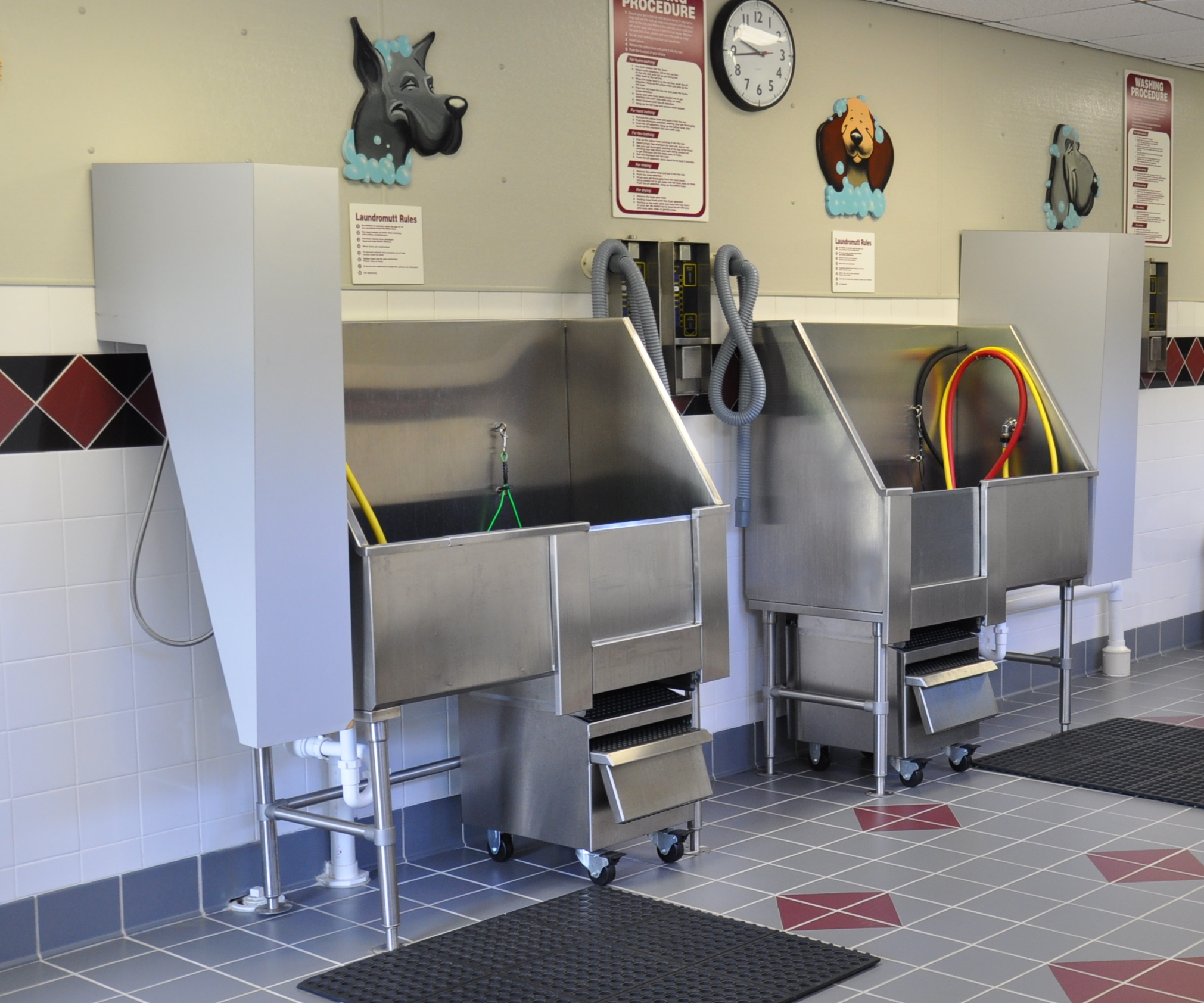 Commercial pet bath station in apartment building
